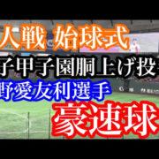 巨人 始球式 島野愛友利 史上初の女子甲子園胴上げ投手 神戸弘陵高校
